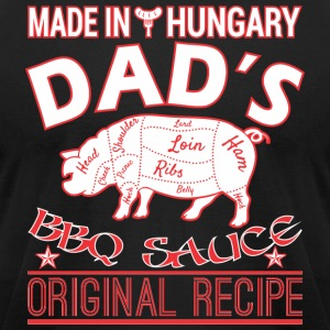 Made In Hungary Dads BBQ Sauce Original Recipe - Men's T-Shirt by American Apparel