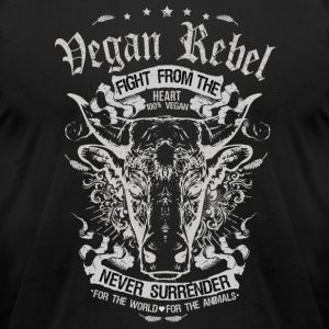 Vegan Rebel - Men's T-Shirt by American Apparel