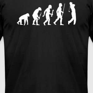 Evolution of a Golfer - Men's T-Shirt by American Apparel
