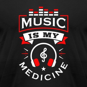 Music Is My Medicine - Men's T-Shirt by American Apparel