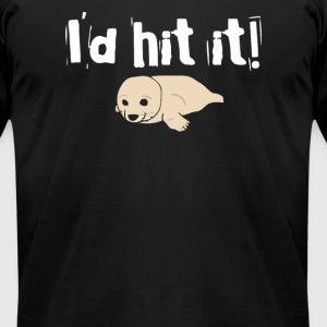 Id Hit It - Men's T-Shirt by American Apparel