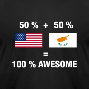 Half Cypriot Half American 100% Awesome Flag Cypru - Men's T-Shirt by American Apparel