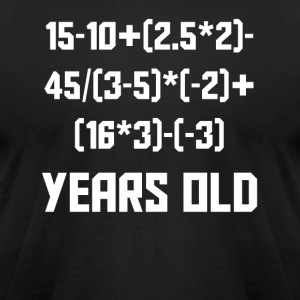 16 Years Old Algebra Equation 16th Birthday - Men's T-Shirt by American Apparel
