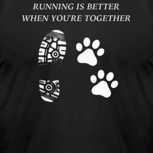 Running is better when you are together - Men's T-Shirt by American Apparel