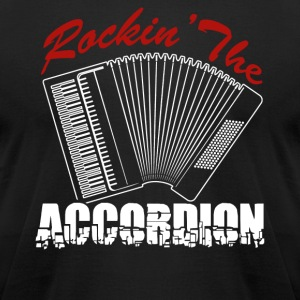 Rockin's The Accordion Shirt - Men's T-Shirt by American Apparel