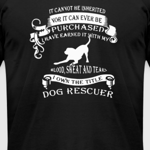 The title dog rescuer - Men's T-Shirt by American Apparel
