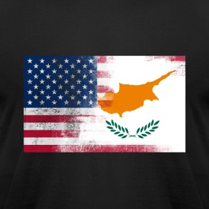Cyprus American Half Cyprus Half Am - Men's T-Shirt by American Apparel
