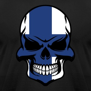 Finnish Flag Skull Cool Finland Skull - Men's T-Shirt by American Apparel