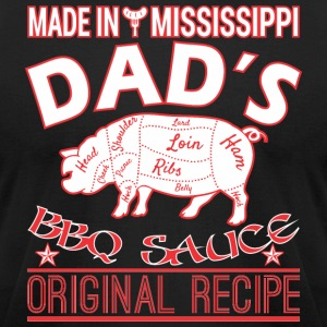 Made In Mississippi Dads BBQ Sauce Original Recipe - Men's T-Shirt by American Apparel