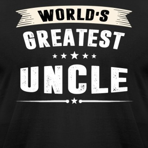 World s Greatest UNCLE - Men's T-Shirt by American Apparel
