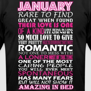 January Rare To Find Romantic Amazing To Bed - Men's T-Shirt by American Apparel
