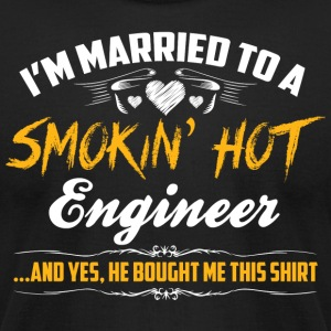 engineer married - Men's T-Shirt by American Apparel