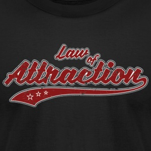 Law of Attraction (retro Color) - Men's T-Shirt by American Apparel