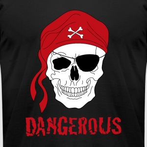 Pirate skull - Men's T-Shirt by American Apparel