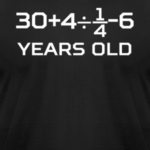 40 Years Old Algebra Equation 40th Birthday - Men's T-Shirt by American Apparel