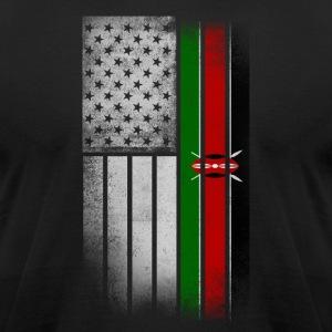 Kenyan American Flag - Men's T-Shirt by American Apparel