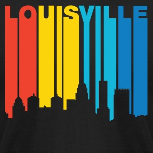 Retro 1970's Style Louisville Kentucky Skyline - Men's T-Shirt by American Apparel