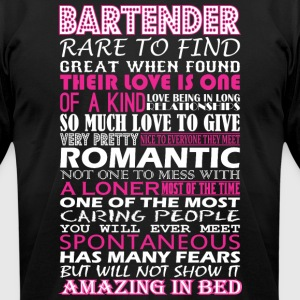 Bartender Rare To Find Romantic Amazing To Bed - Men's T-Shirt by American Apparel