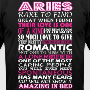 Aries Rare To Find Romantic Amazing To Bed - Men's T-Shirt by American Apparel
