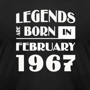 Legends are born in February 1967 - Men's T-Shirt by American Apparel