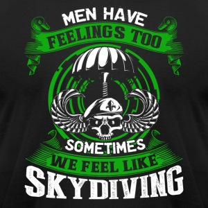Skydiving Shirt - Men's T-Shirt by American Apparel
