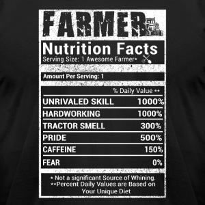 Farmer nutrition facts T Shirts - Men's T-Shirt by American Apparel