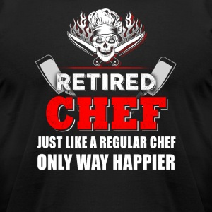 Retired Chef T-Shirts - Men's T-Shirt by American Apparel