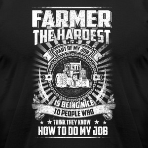 Farmer the hardest T Shirts - Men's T-Shirt by American Apparel