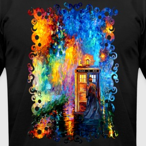 Time traveller lost in the strange city - Men's T-Shirt by American Apparel