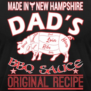 Made New Hampshire Dads BBQ Sauce Original Recipe - Men's T-Shirt by American Apparel