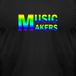 Colorful Music Makers - Men's T-Shirt by American Apparel