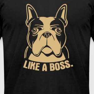 Like A Boss Rescue Dog Lover - Men's T-Shirt by American Apparel