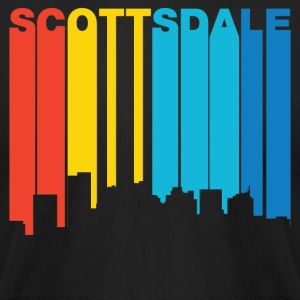 Retro 1970's Style Scottsdale Arizona Skyline - Men's T-Shirt by American Apparel