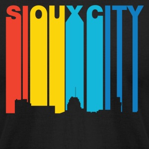 Retro 1970's Style Sioux City Iowa Skyline - Men's T-Shirt by American Apparel