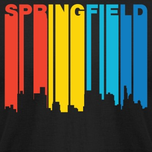 Retro 1970's Style Springfield Illinois Skyline - Men's T-Shirt by American Apparel