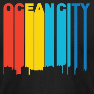 Retro 1970's Style Ocean City Maryland Skyline - Men's T-Shirt by American Apparel