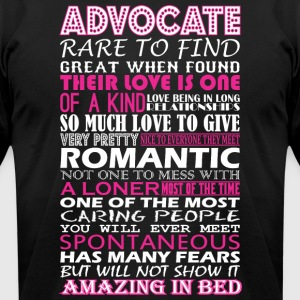 Advocate Rare To Find Romantic Amazing To Bed - Men's T-Shirt by American Apparel