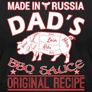 Made In Russia Dads BBQ Sauce Original Recipe - Men's T-Shirt by American Apparel