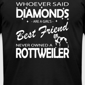 Whoever said diamonds are a girls best friend - Men's T-Shirt by American Apparel