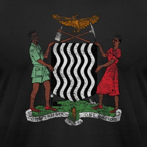 Zambian Coat of Arms Zambia Symbol - Men's T-Shirt by American Apparel