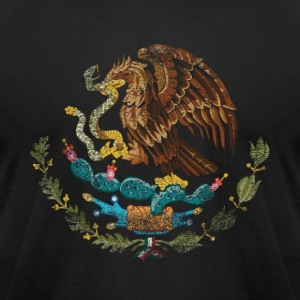 Mexican Coat of Arms Mexico Symbol - Men's T-Shirt by American Apparel
