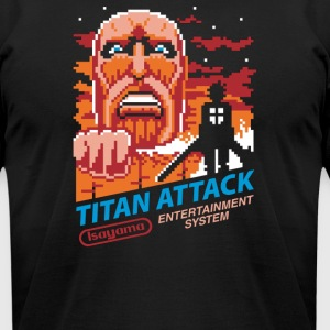Titan Attack 8bit - Men's T-Shirt by American Apparel