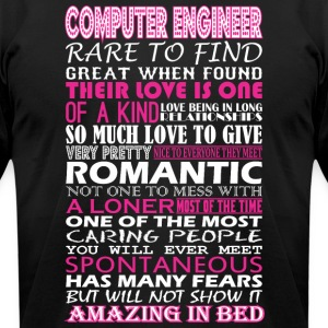 Computer Engineer Rare Find Romantic Amazing Bed - Men's T-Shirt by American Apparel