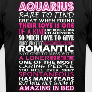 Aquarius Rare To Find Romantic Amazing To Bed - Men's T-Shirt by American Apparel
