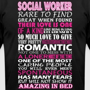 Social Worker Rare To Find Romantic Amazing To Bed - Men's T-Shirt by American Apparel