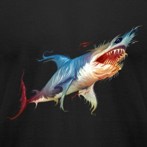 Colorful Shark - Men's T-Shirt by American Apparel