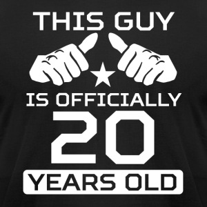 This Guy Is 20 Years Funny 20th Birthday - Men's T-Shirt by American Apparel