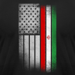 Iranian American Flag - Men's T-Shirt by American Apparel