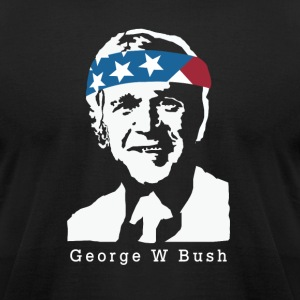 President George W Bush American Patriot Vintage - Men's T-Shirt by American Apparel
