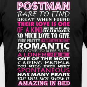Postman Rare To Find Romantic Amazing To Bed - Men's T-Shirt by American Apparel